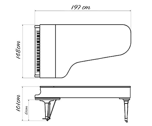 kich thuoc dan grand piano yamaha g5b cu