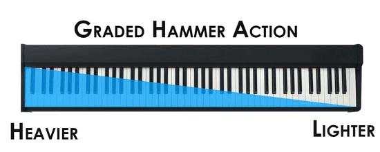 graded hammer action