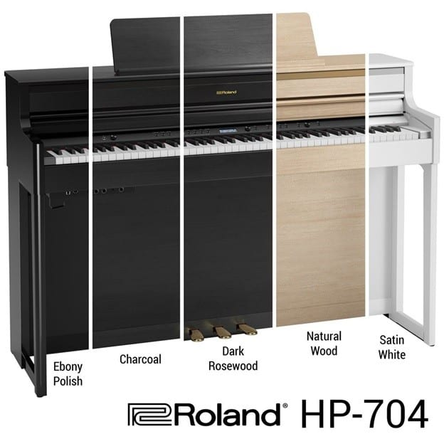 cac mau sac cua dan piano roland hp 704