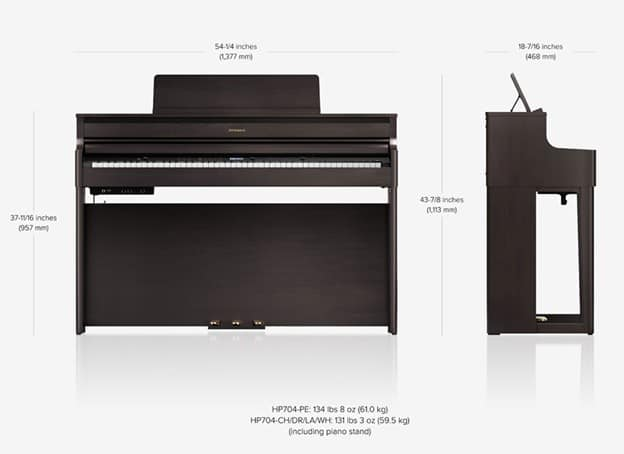 kich thuoc dan piano roland hp 704