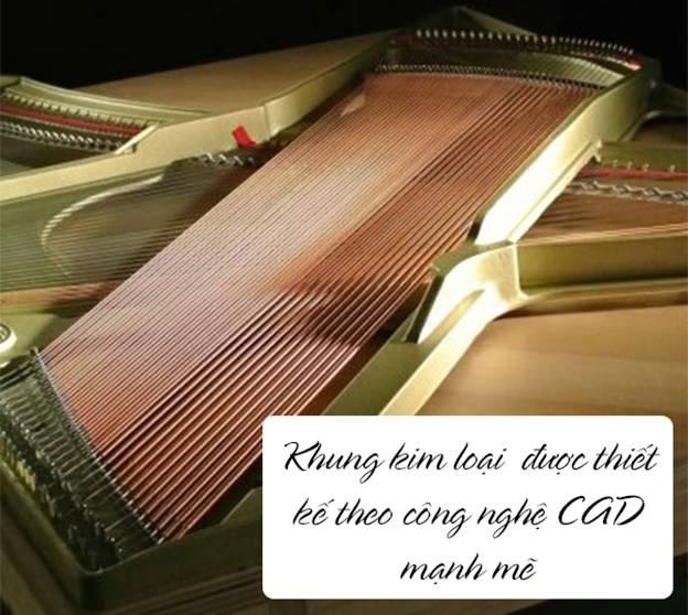 khung kim loai dan piano kawai k300