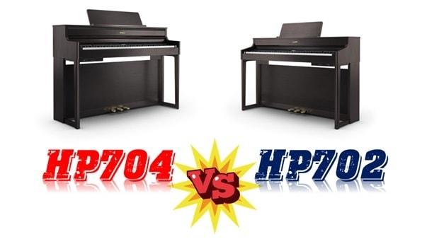 Đánh giá & so sánh đàn piano điện Roland HP-704 và Roland HP-702