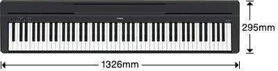 kích thước đàn piano yamaha p45