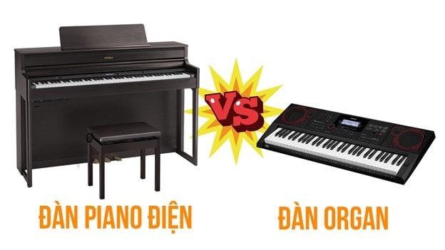 so sanh dan piano dien voi dan organ