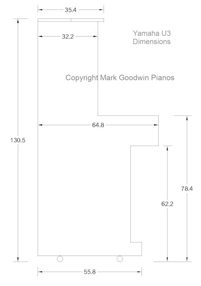 kich thuoc dan piano yamaha u3