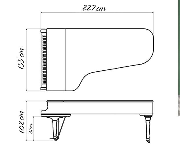 kich thuoc dan grand piano yamaha c7