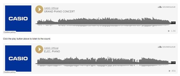 âm thanh đàn piano casio cdp s160