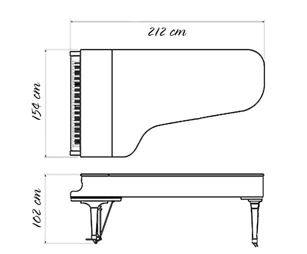 kich thuoc dan piano yamaha c5e